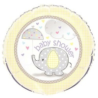 Umbrellaphant Yellow Foil Baby Shower Balloon