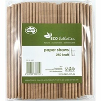 Eco Kraft Paper Straws - Pack of 250