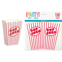 Red Stripe Large Popcorn Box - Pack of 10
