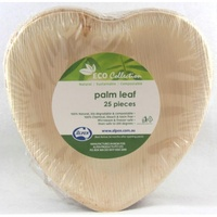 "Palm Leaf Heart Plate 6.5"" - Pack of 25"