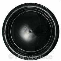 Black Lunch Plate 180mm Ptn25