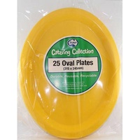 Yellow Oval Plate 315X245 Pkt 25