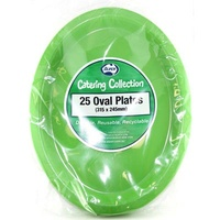Lime Green Oval Plate 315X245 Pk 25