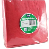 Red Dinner Napkins 2 Ply -  Pack of 50