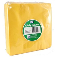 Yellow Dinner Napkins 2 Ply -  Pack of 50