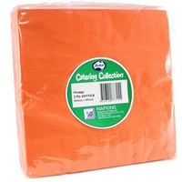 Orange Dinner Napkins 2 Ply -  Pack of 50