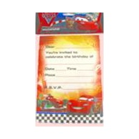 Cars Invites - Pack Of 8