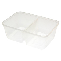 2 compartment 800ml Takeaway Container - Pack of 50