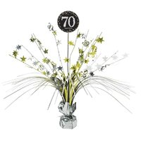 70th Birthday Gold Centrepiece Spray