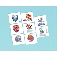 Paw Patrol Girl Tattoo Favors - Pk 16