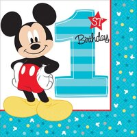 Mickey Fun To Be One Lunch Napkins - Pk 16