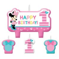Minnie Fun To Be One Birthday Candle Kit