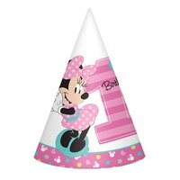 Minnie Fun To Be One Cone Hats - Pk 8