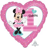 Minnie 1st Birthday Foil Balloon (45cm)