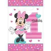 Minnie Fun To Be One Loot Bags - Pk 8