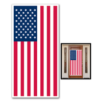 "American Flag Door Cover 30"" x 5'"