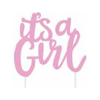 """it's a Girl"" Girl Cake Topper"