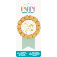 Mum to Be Gold Foil Stamped Award Ribbon