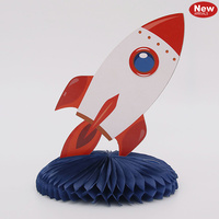 Space Rocket Centrepiece - 18cm height