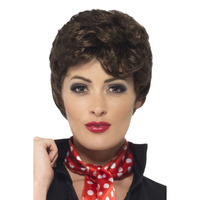 Brown Rizzo Wig - Grease