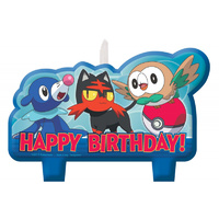 Pokemon Birthday Candle Set - Pk 4