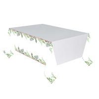Love & Leaves Paper Table Cover - 137 x 259cm