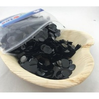 Metallic Black Confetti (1cm) - 250 grams