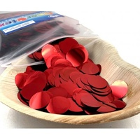 Metallic Red Confetti (2.3cm) - 250 grams
