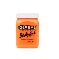 Fluorescent Orange Face & Body Paint - 200ml