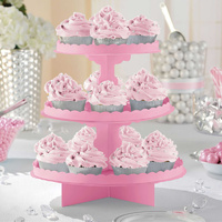 3 Tier Cupcake/Treat Stands - Light Pink