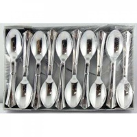 Silver Plastic Spoons 155mm - Box of 100