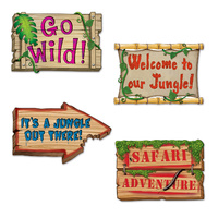 Jungle Sign Cutouts - Pk 4