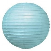 12cm Light Blue Paper Lanterns - Pk 2