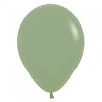 "12"" Fashion Eucalyptus Latex Balloons - Pk 100"