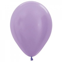 "5"" Satin Lilac Latex Balloons - Pk 100"
