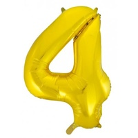 "#4 34"" Gold Foil Balloon"