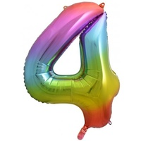 "#4 34"" Rainbow Foil Balloon"