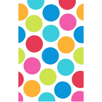 Cabana Dot Plastic Table Cover