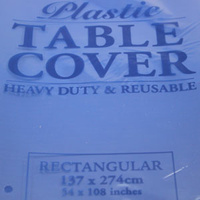 Blue Rectangle Table Cover