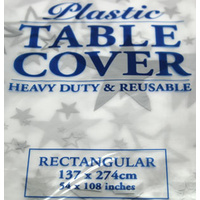 Silver Stars Rectangle Tablecloth