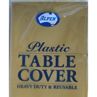 Gold Round Table Cover Plastic