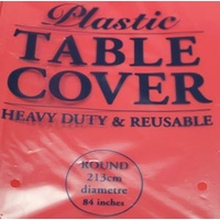 Red Table Cover Round