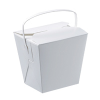 Paper Noodle Box/Food Pail 16oz with Handle - 25 Pack