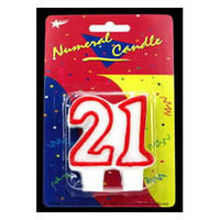 21 Birthday Candle - Red