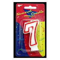 7 Birthday Candle - Red