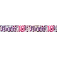 Banner Holographic 2.6M 18Th Pink