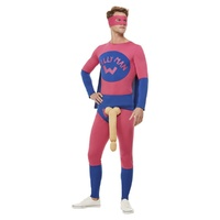 Willyman Superhero Costume, Pink & Blue